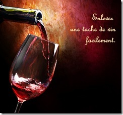 enlever tache de vin