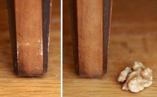 Réparer du bois avec une noix