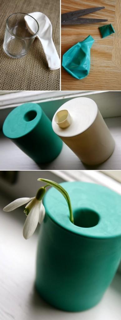 vase improvisé