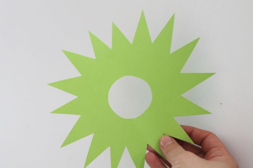 Découpez une forme d'étoile